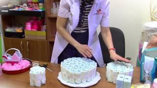 Мастер-класс. Торт из памперсов(, 2015-04-28T10:51:59.000Z)