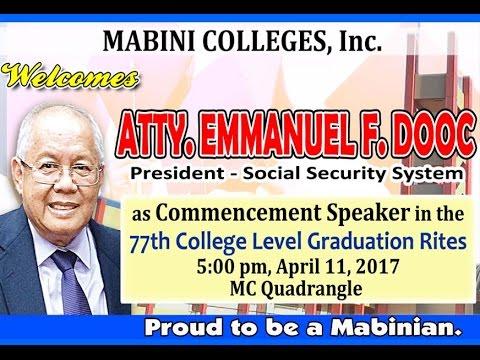 MC 77th College Level Graduation Rites 2017