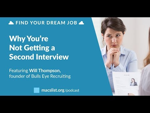 Why You're Not Getting a Second Interview, with Will Thomson