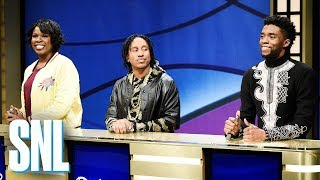 Download Black Jeopardy with Chadwick Boseman - SNL Mp3 and Videos