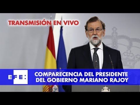 Comparecencia del presidente Rajoy tras reunión extraordinaria  del Consejo de Ministros