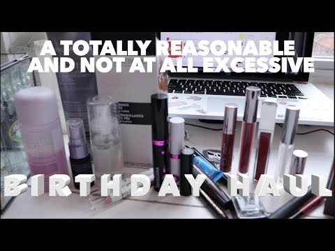 a birthday haul | swatches, mini reviews, & shame