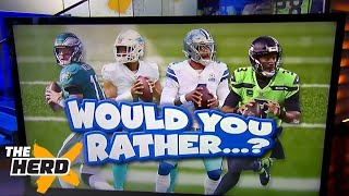 Colin Cowherd plays 'Would You Rather?' with scenarios for the rest of the NFL season | THE HERD