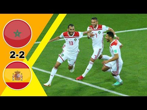 إسبانيا تحت القصف المغربي/ إسبانيا ~ المغرب 2-2 كأس العالم 2018 وجنون جواد بدا جودة عالية 1080i - A ELMENTASIR