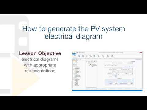 Solarius PV Tutorial - Generate the PV system's electrical diagrams - ACCA software