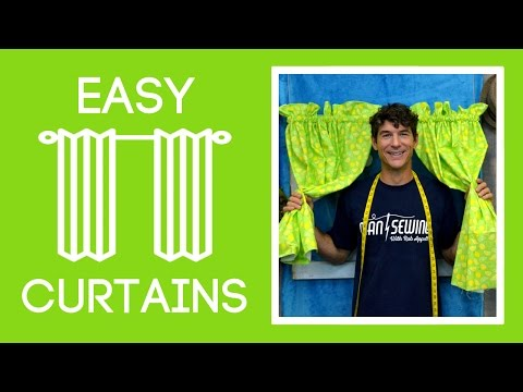 Easy Curtains with Scented Fabric: Basic Sewing Project with Rob Appell of Man Sewing