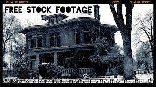 'ABANDONED MANSION IN THE SNOW'  Free Stock Footage