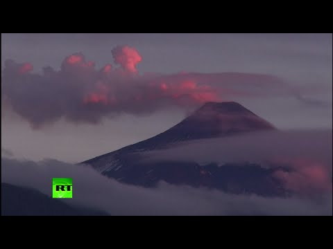 Dangerously beautiful: Stunning images of Chilean volcano that may soon erupt