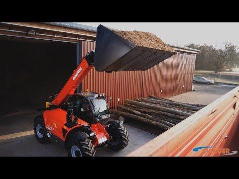 Manitou MLT1040   Hackschnitzel Verladen   Manger Hackschnitzel Und Holztransporte