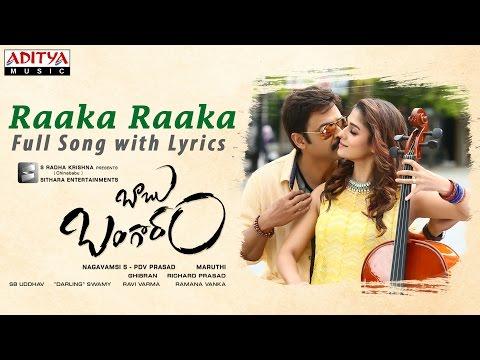 Raaka RaakaSong with Lyrics   Babu Bangaram Full Songs   Venkatesh, Nayanathara, Ghibran
