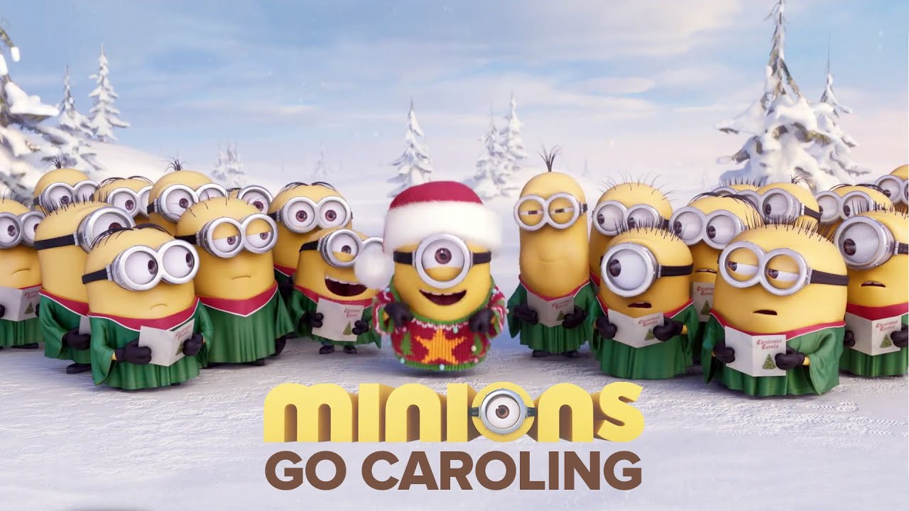 Funny Minion Merry Christmas Wallpapers Sayings: MINIONS Singing Jingle Bells