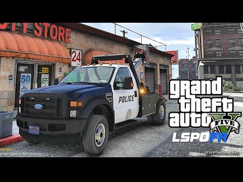 GTA 5 LSPDFR 0.3.1 - EPiSODE 368  - LET'S BE COPS - TOW TRUCK PATROL (GTA 5  REAL LIFE POLICE MOD)
