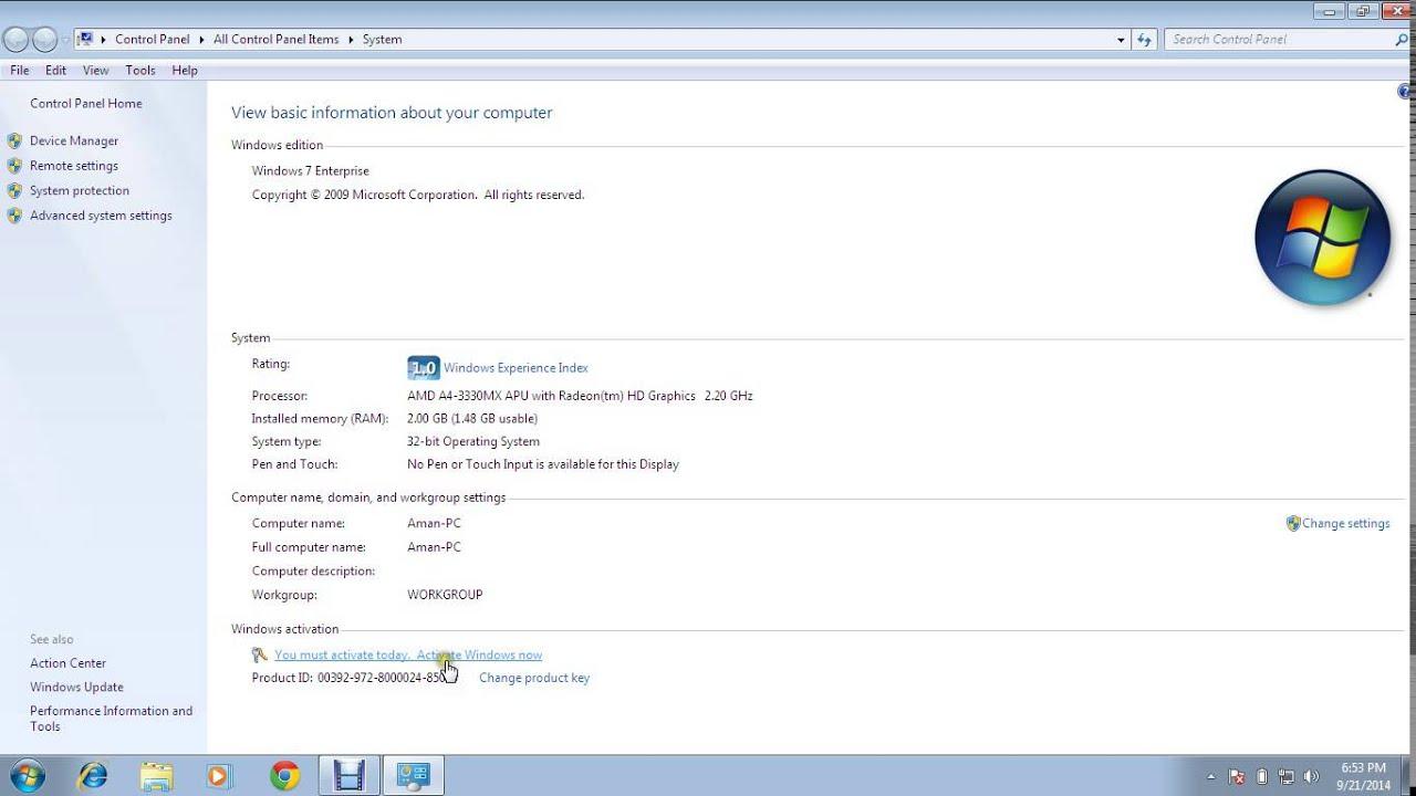 windows 7 enterprise genuine activation crack