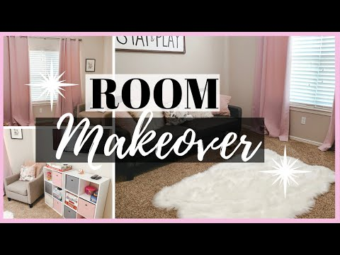 PLAYROOM MAKEOVER | DECORATING ON A BUDGET | HANGING A TV ON THE WALL