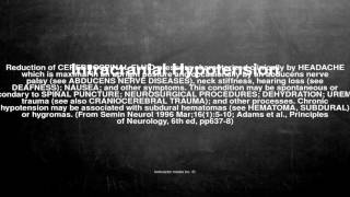 Medical vocabulary: What does Intracranial Hypotension mean