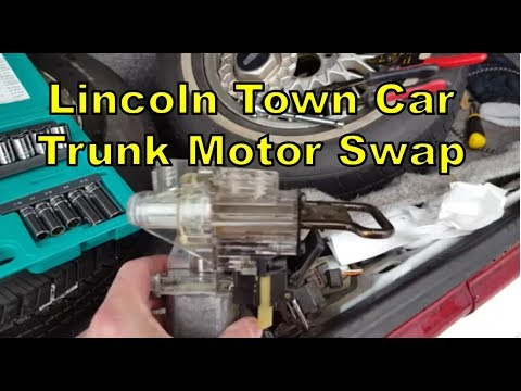 DIY!  Remove & Replace Lincoln Town Car Trunk Pull Down Motor