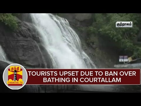 Tourists upset due to ban over bathing in Courtallam | Thanthi TV