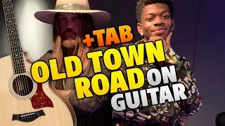 Old Town Road. Fingerstyle guitar cover with tabs and karaoke lyrics (Lil Nas X ft. Billy Ray Cyrus)