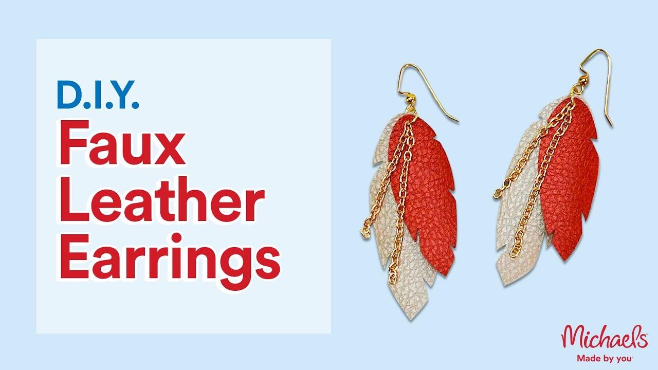 DIY Faux Leather Cricut Earrings | Michaels