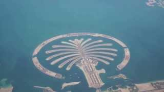 The Palm Jumeirah - Dubai Island UAE  2014 View from Plane