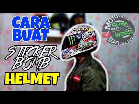 #346 DIY STICKER BOMB HELMET! | LSWVlog