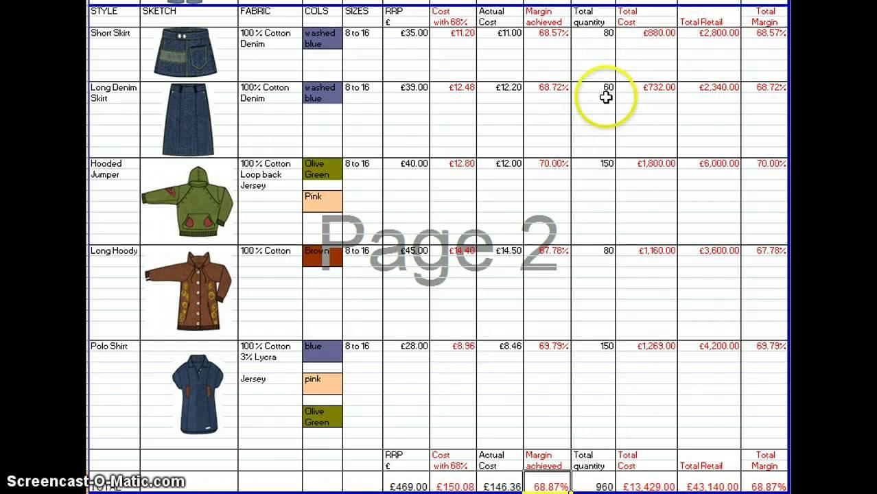 range plan template