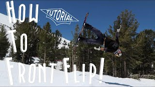 How To Front Flip On A Snowboard!