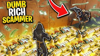 RICHEST Scammer Gets Exposed Live! *RAGE* (Scammer Get Scammed) Fortnite Save The World