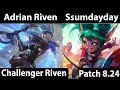 [ Adrian Riven ] Riven vs Poppy  [ Ssumdayday ] Top  - Trying my hardest to win Challenger soloq