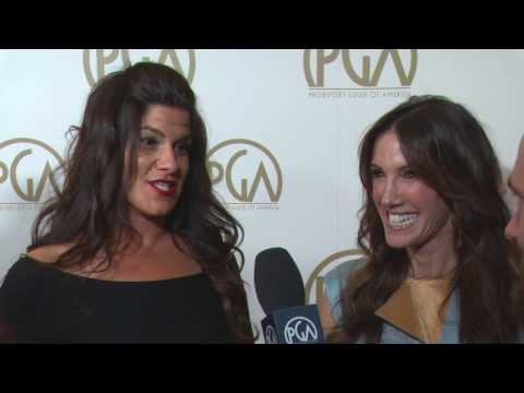 Robbie Brenner and Rachel Winter, Dallas Buyers Club Producers, on the PGA Red Carpet with ShayCarl
