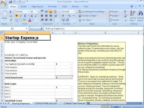 Using Templates In Excel To Manage Financials Youtube