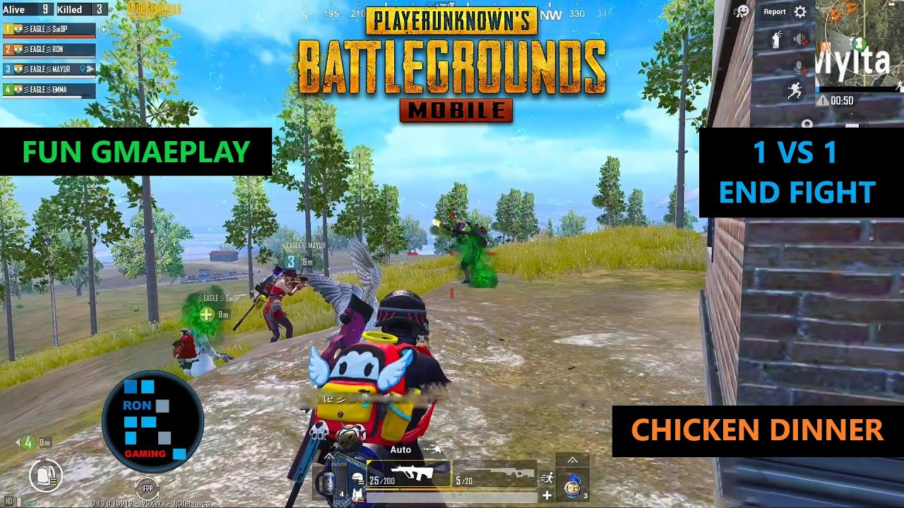 PUBG MOBILE | INTENSE MATCH 1 VS 1 SITUATION IN THE END ZONE