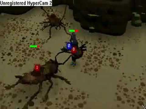 Runescape: Me (level 69) vs 3 cockroach soldier (level 83)