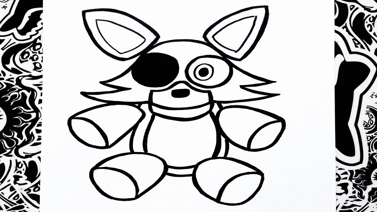 Como dibujar a foxy peluche  how to draw foxy  YouTube