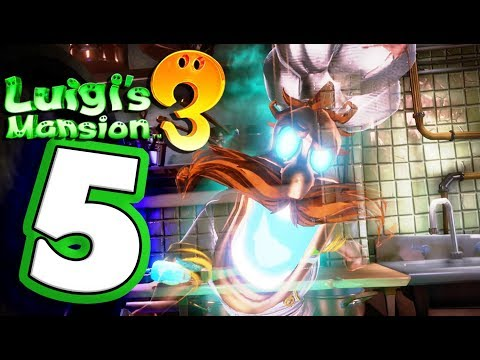 Luigi's Mansion 3 Walkthrough Part 5 ANGRY Kitchen Ghost! (Nintendo Switch) Co-Op