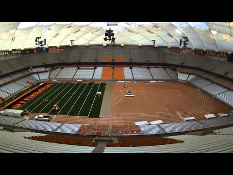Carrier Dome New FieldTurf Time Lapse