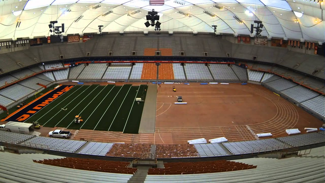 Carrier Dome New Fieldturf Time Lapse Youtube