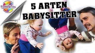 5 ARTEN von  BABYSITTER 👶 Die armen Babies | Family Fun