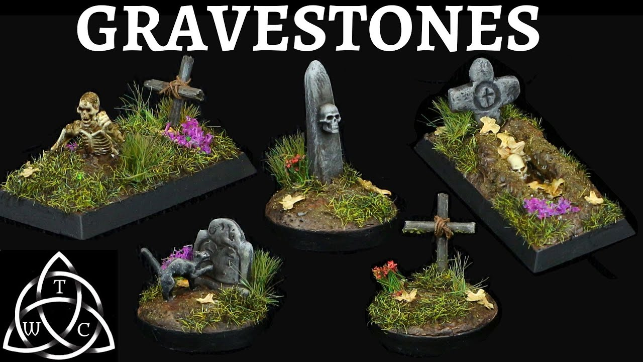 DIY Gravestones for Tabletop Gaming