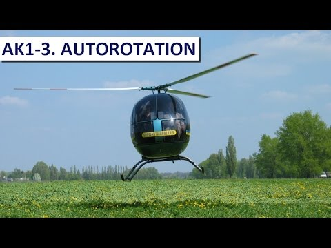 Light utility helicopter / kit Aerocopter AK1-3. Full autorotation.