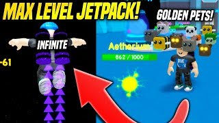 I GOT THE *MAX LEVEL* JETPACK AND INFINITE FUEL IN JETPACK SIMULATOR!! (Roblox)