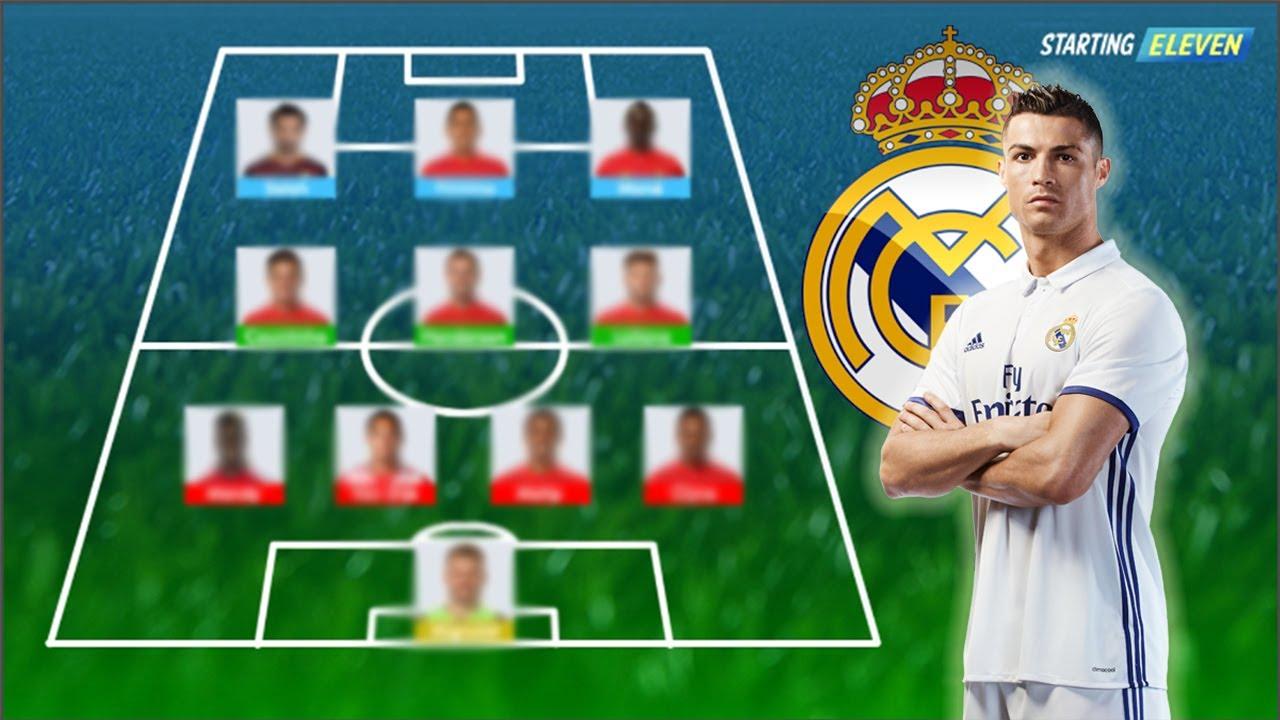 Formasi LINE UP Terbaik Real Madrid Untuk Musim Depan 2018 PREDIKSI