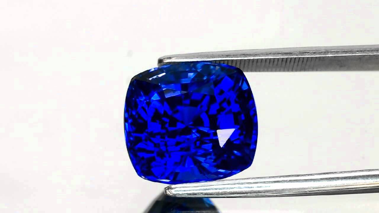 gemstones lankan cushion shape sku blue lanka royal grs carat sri sapphire gemstone