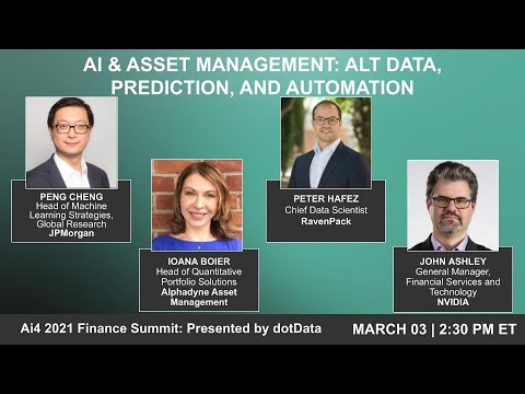 Panel: AI and Asset Management: Alt Data, Prediction, and Automation