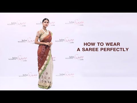 How To Wear a Saree Perfectly | Saree Draping Style | Perfect Saree Draping Tips