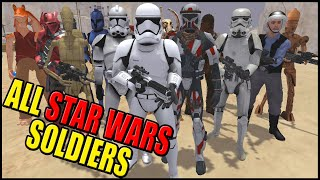 1 Soldiers from Every STAR WARS Army! - Men of War: Star Wars Mod Battle Simulator