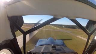 Tail wheel cross wind wheel landing lesson