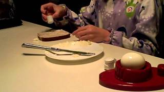 Cooking With Abigail - Open Faced Egg Sandwich