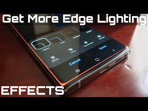 Samsung Galaxy Note 10 How To Get More Edge Lighting Effects & Customizations