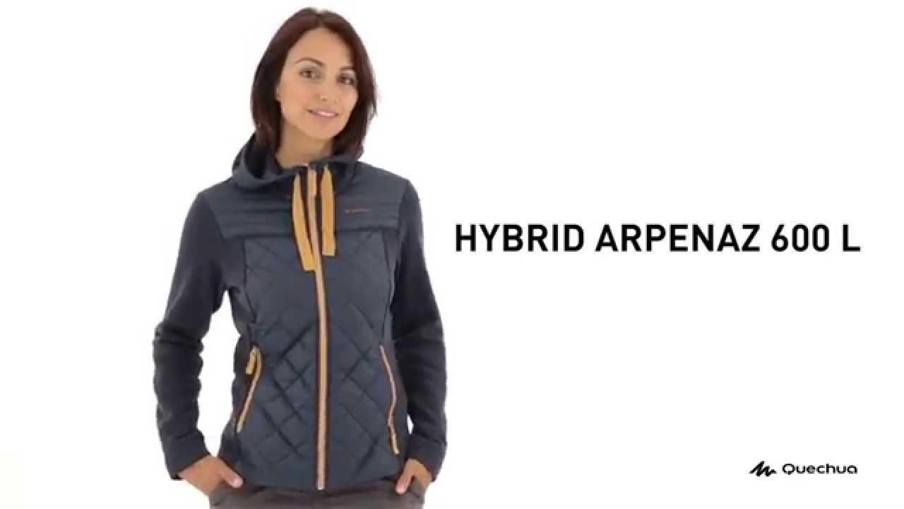 3248e414b Jaqueta Hybrid Arpenaz 600 Feminina - Exclusividade Decathlon - YouTube